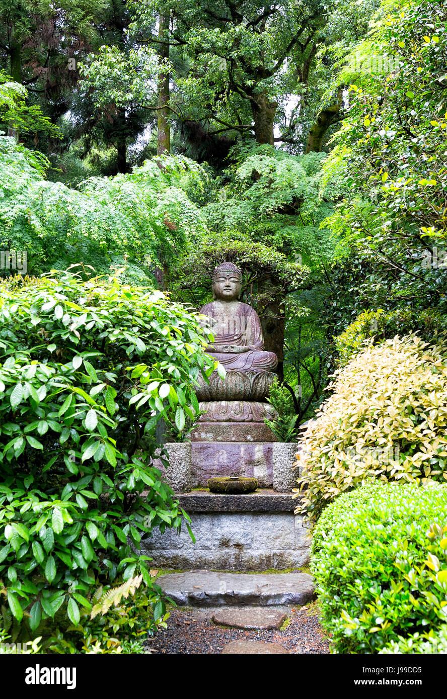 Statue of Buddha at Ryoan-ji temple in Kyoto Japan - Stock Image