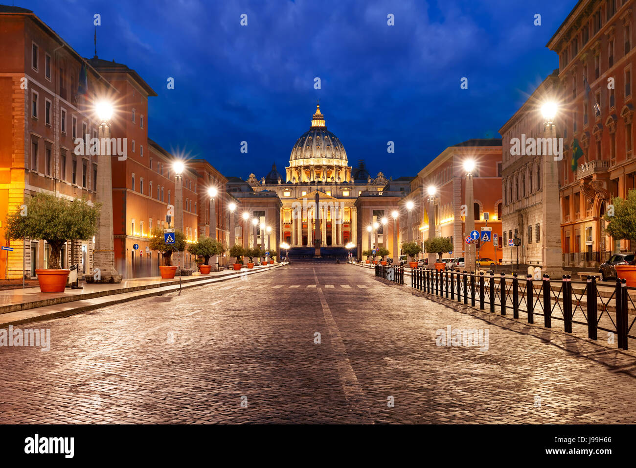 Saint Peter Cathedral in Rome, Vatican, Italy. - Stock Image