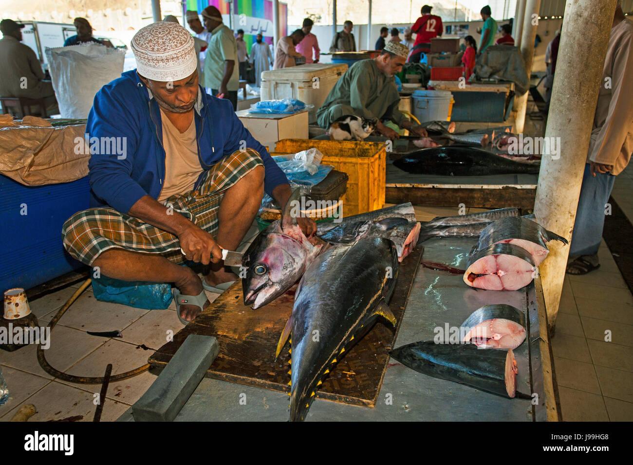 Fisherman, Muttrah, Muscat, Oman, Arabian peninsula, Asia, by Monika Hrdinova/Dembinsky Photo Assoc - Stock Image