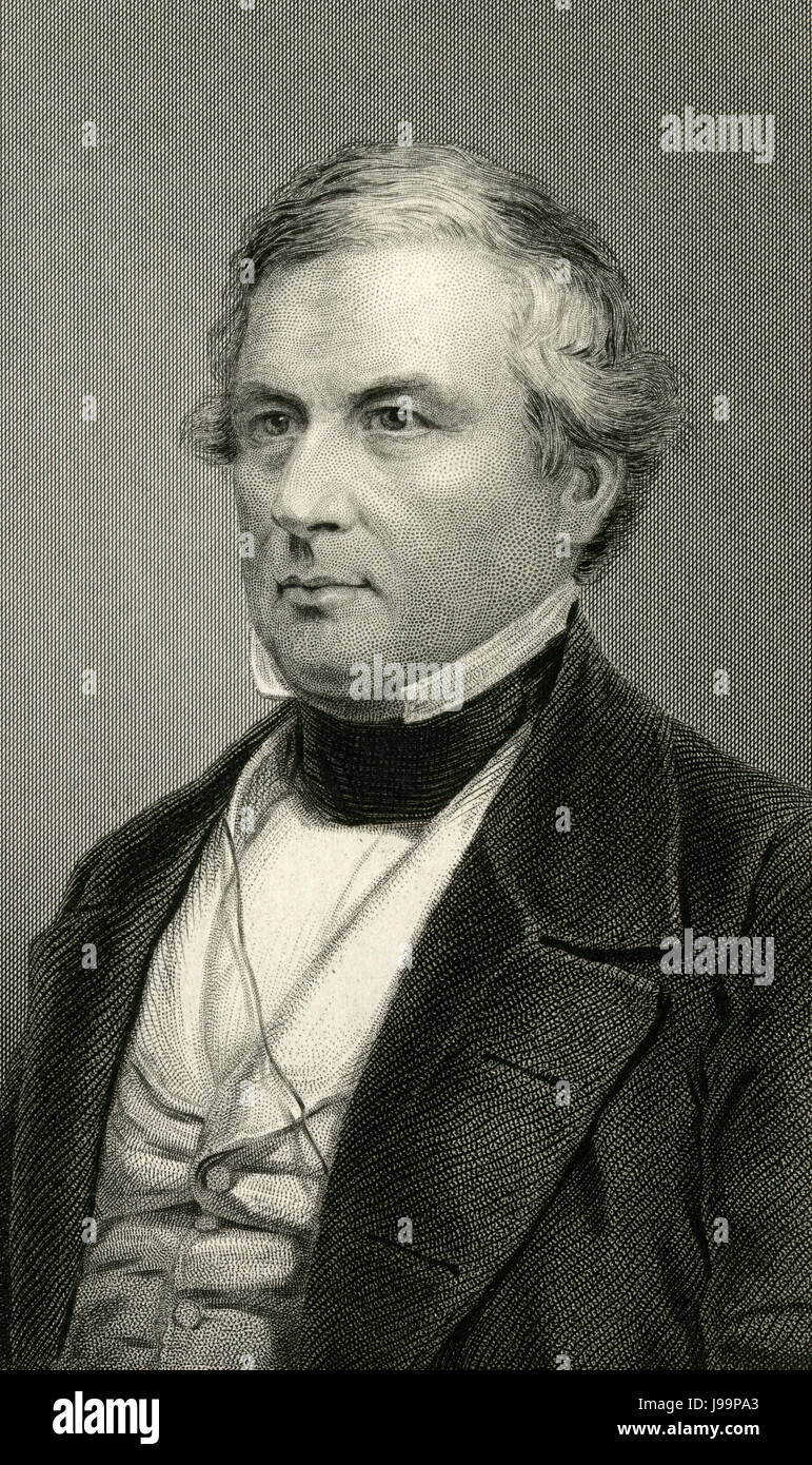 Antique c1860 engraving, Millard Fillmore. Millard Fillmore (1800-1874) was the 13th President of the United States Stock Photo