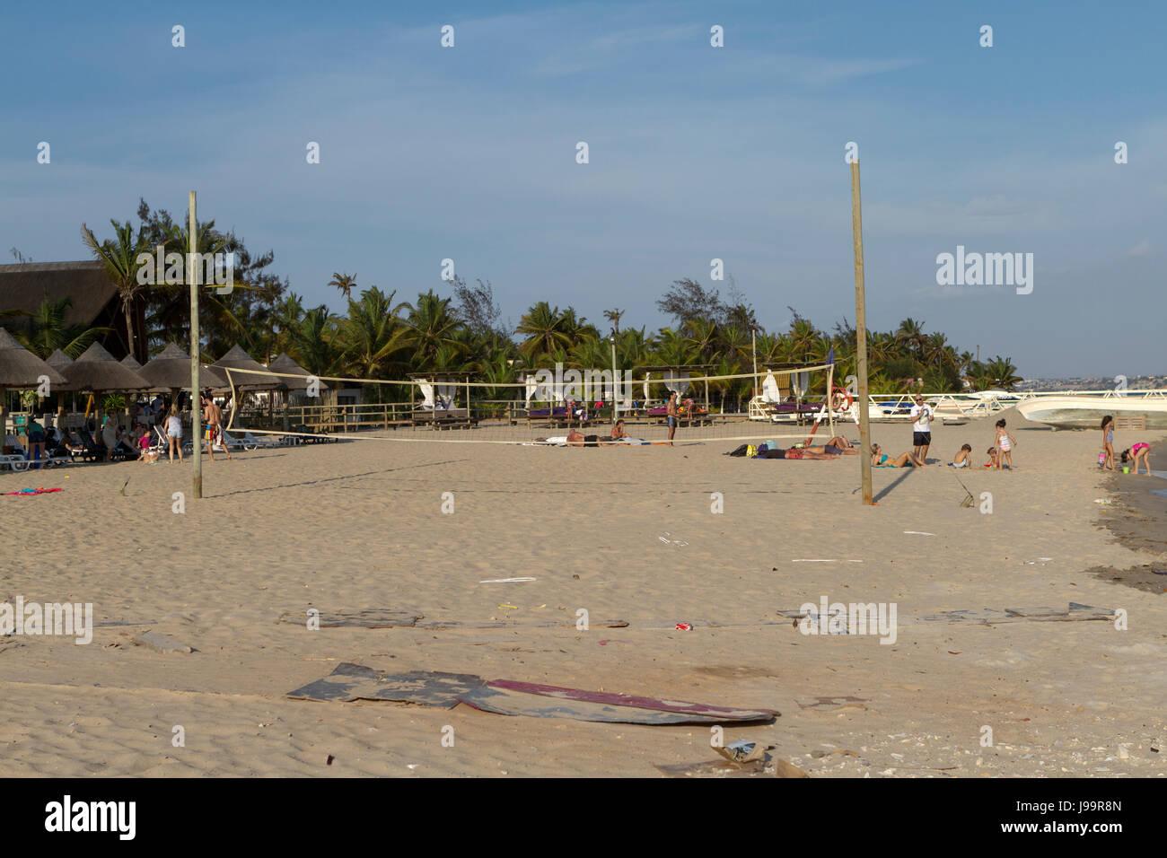 Mussulo island, Luanda Angola - Stock Image