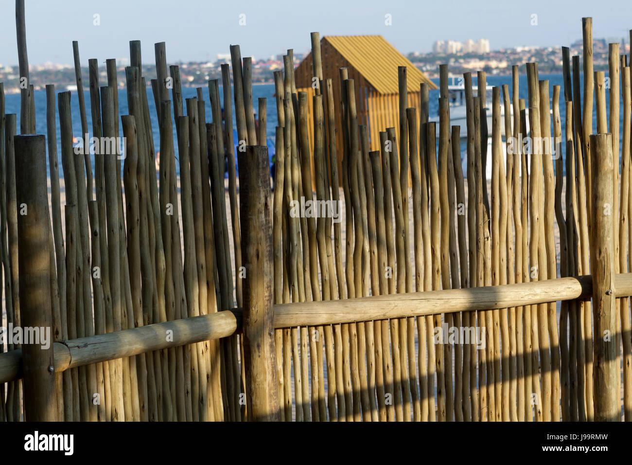 Wood fence - Stock Image