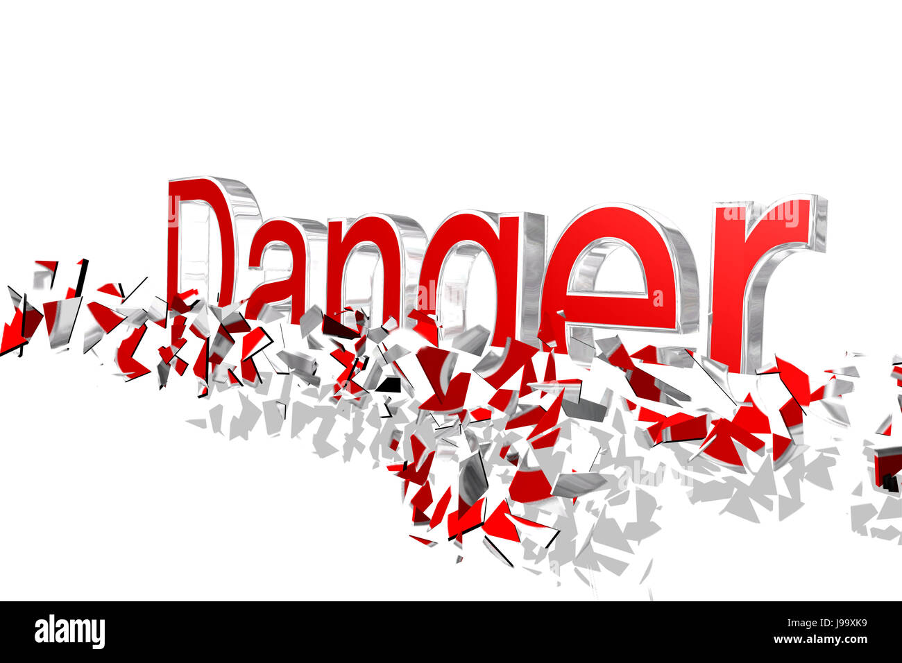 danger, write, wrote, writing, writes, isolated, font, typography, situation, - Stock Image