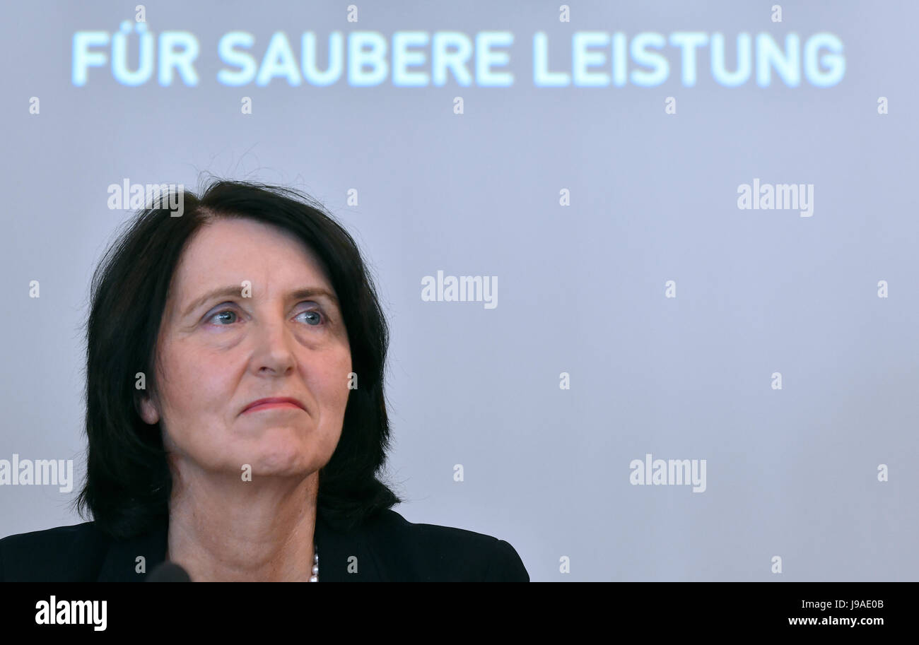 Berlin, Germany. 1st June, 2017. Andrea Gotzmann, chair of the Nationale Anti Doping Agentur Deutschland (NADA, Stock Photo