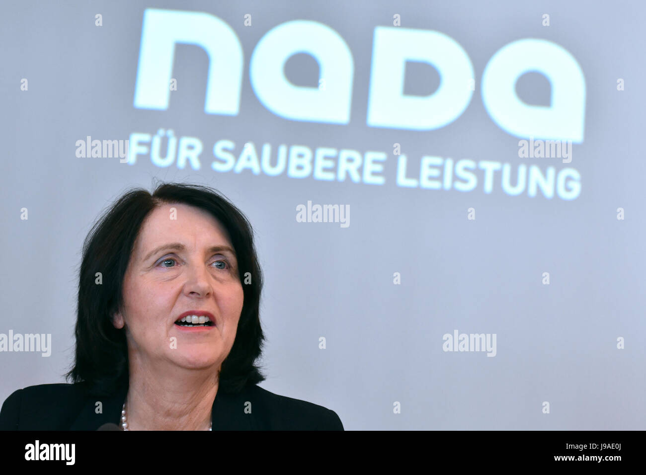 Berlin, Germany. 1st June, 2017. Andrea Gotzmann, chair of the Nationale Anti Doping Agentur Deutschland (NADA, Stock Photo