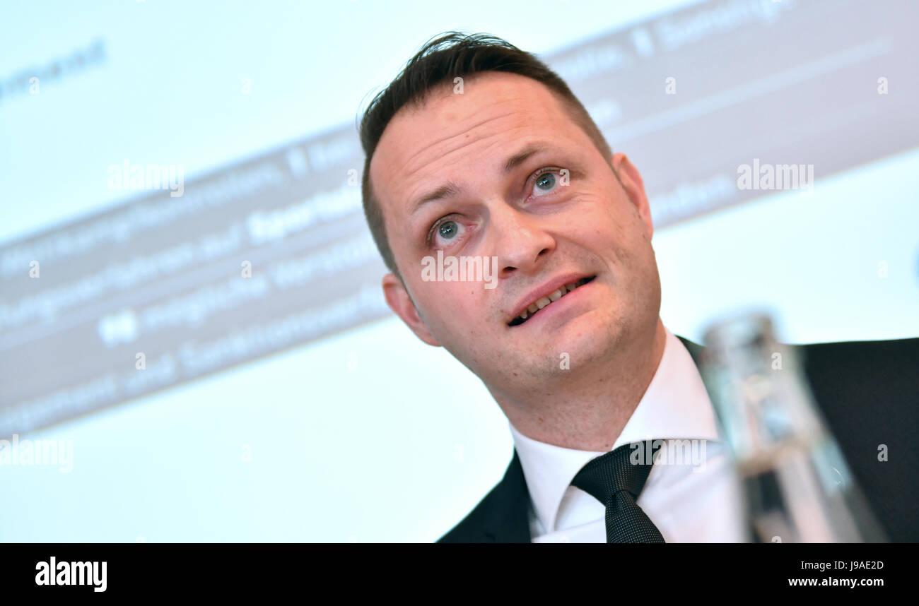 Berlin, Germany. 1st June, 2017. Lars Mortsiefer, chair of the Nationale Anti Doping Agentur Deutschland (NADA, Stock Photo