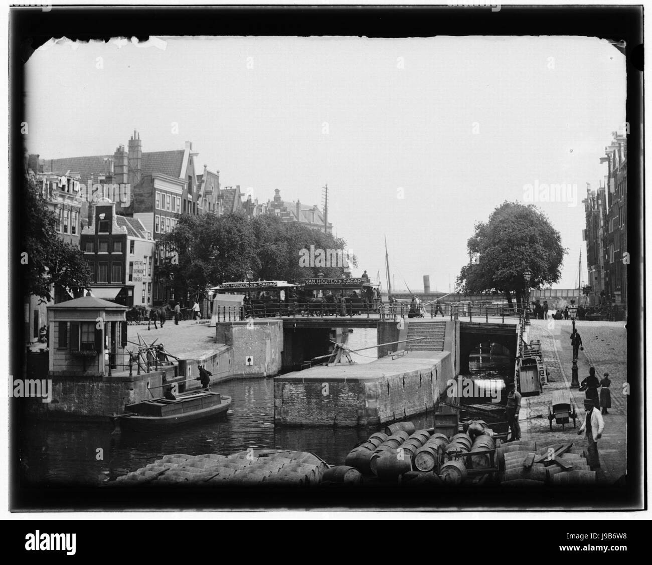 Prinsengracht (Korte) 22 (links) Jacob Olie (max res) - Stock Image