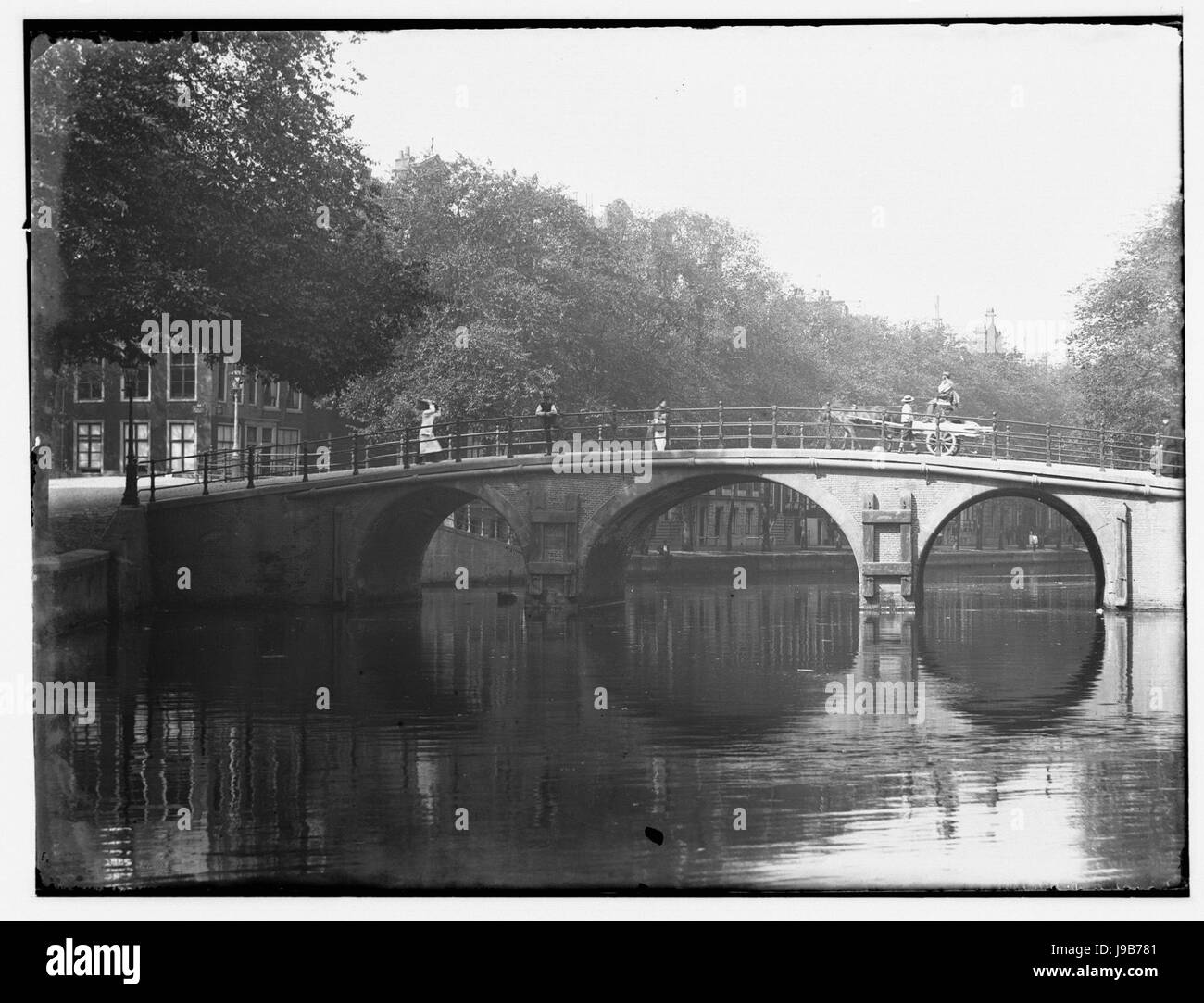 Prinsengracht 748 (links) Jacob Olie (max res) - Stock Image