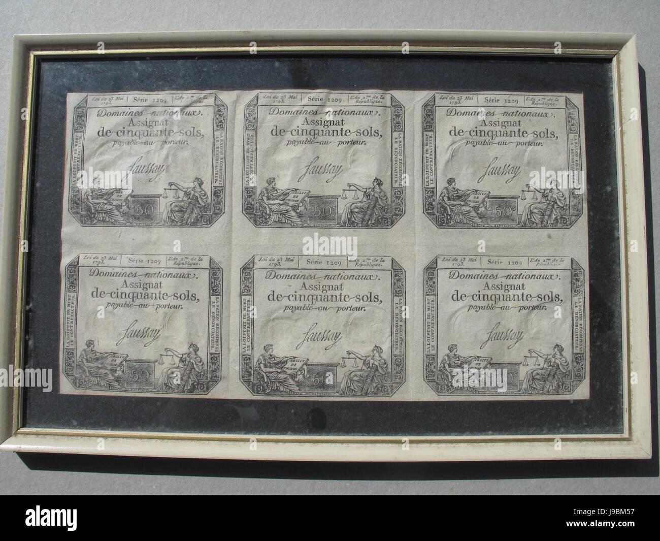 Staatsobligaties Franse Republiek - Stock Image