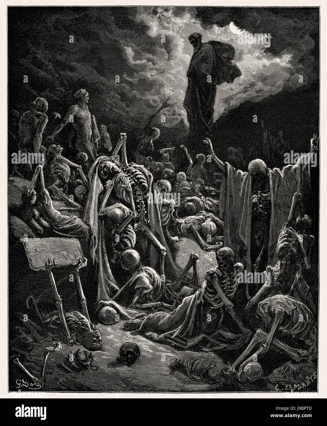 The Vision of The Valley of The Dry Bones - Stock Image
