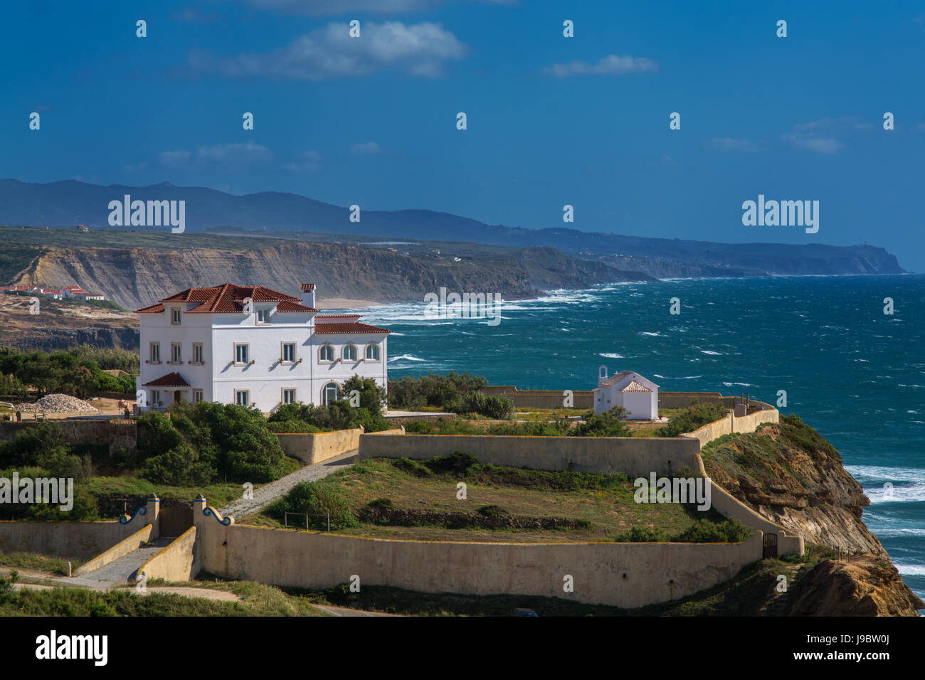 Ericeira Portugal. 18 May 2017.View of Ericeira Hotel in Ericeira Village.Ericeira, Portugal. photography by Ricardo - Stock Image