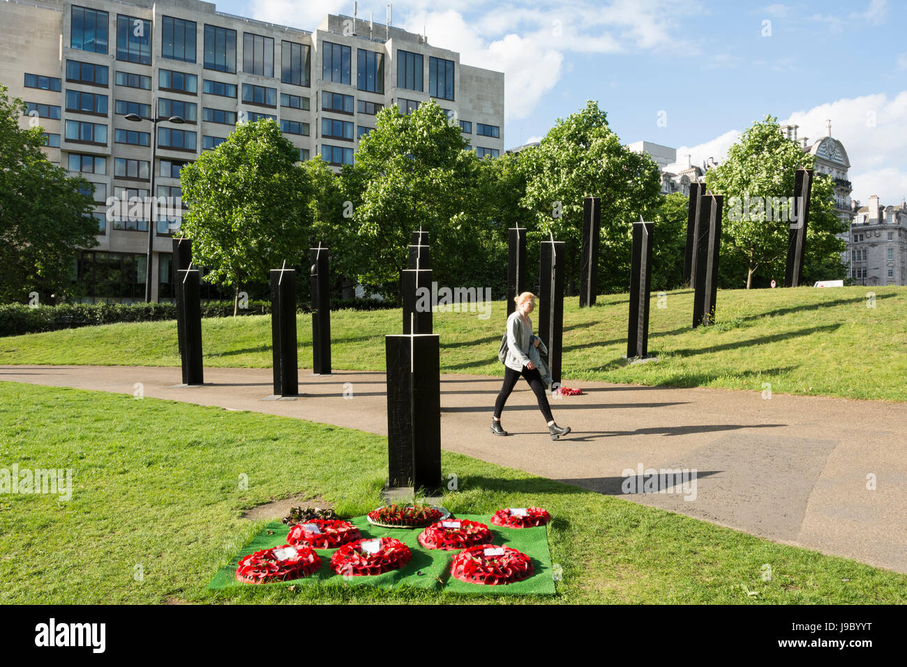 The Southern Stand – New Zealand's War Memorial, Hyde Park Corner, London, UK - Stock Image