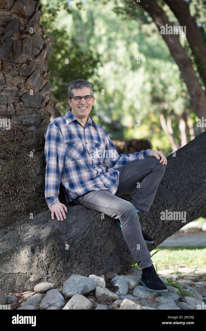 Jonathan Lethem in Claremont California USA - Stock Image