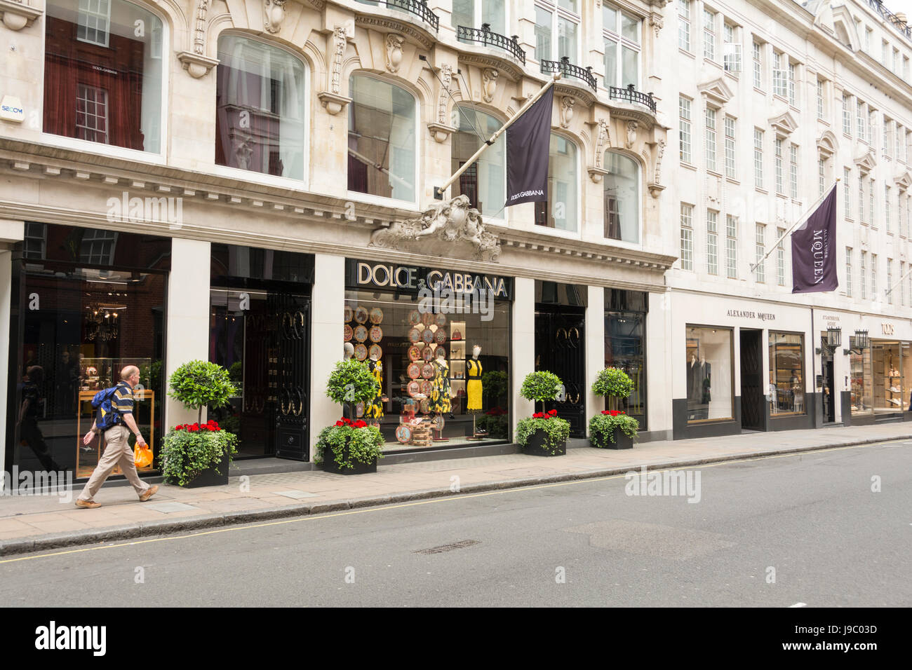 Dolce & Gabbana flagship store on New Bond Street, London, UK - Stock Image