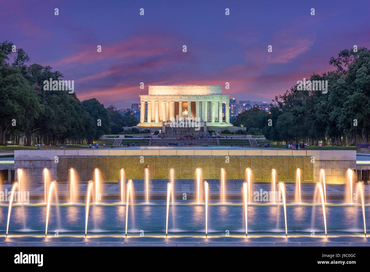 Washington DC, USA at Lincoln Memorial. - Stock Image