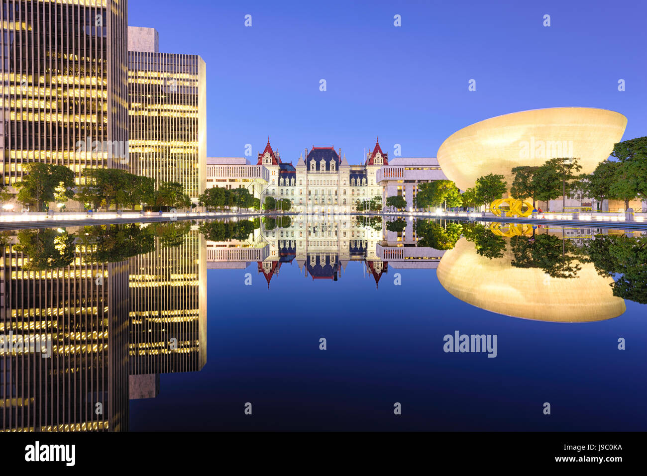 Albany, New York, USA at the New York State Capitol. - Stock Image
