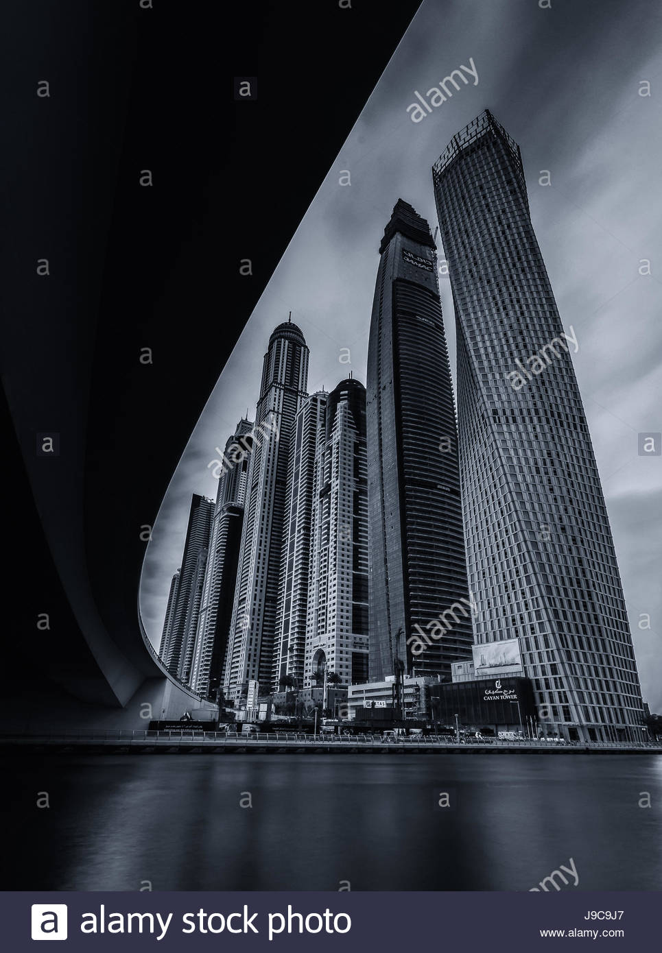 A view of Dubai Marina skyline. - Stock Image