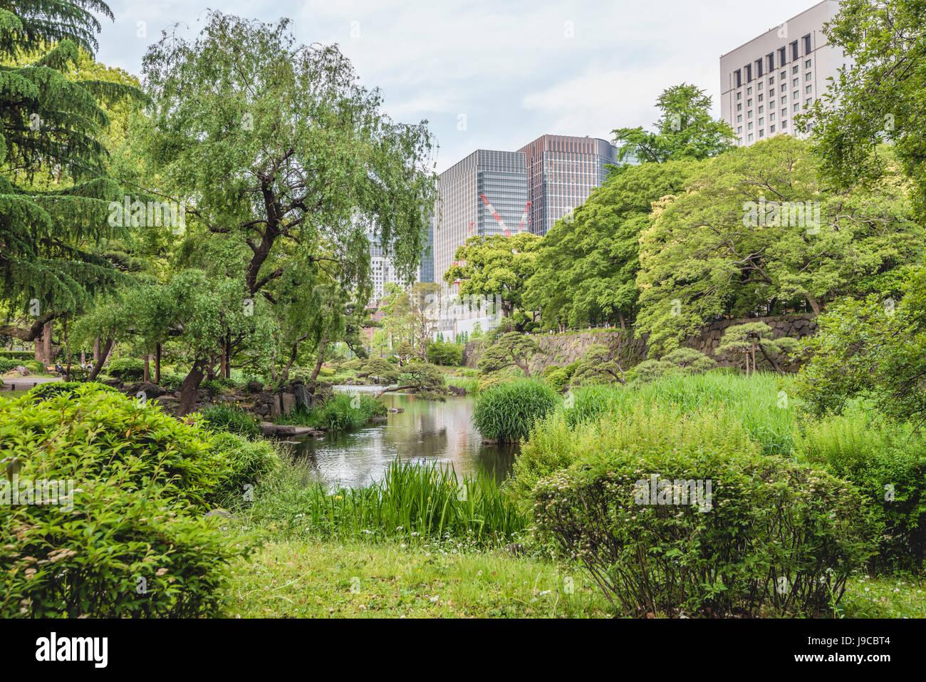 Hibiya Park (Hibiyakōen) in Chiyoda-ku, Tokyo, Japan | Hibiya Park (Hibiyakōen) in Chiyoda-ku, Tokyo, Japan - Stock Image