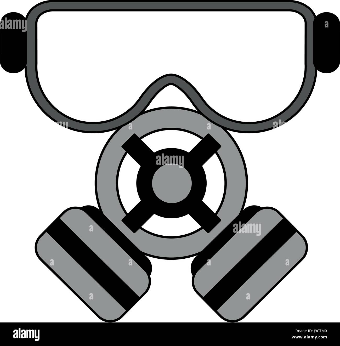 color image cartoon gas mask protection element stock vector art rh alamy com cartoon drawing gas mask cartoon character with gas mask