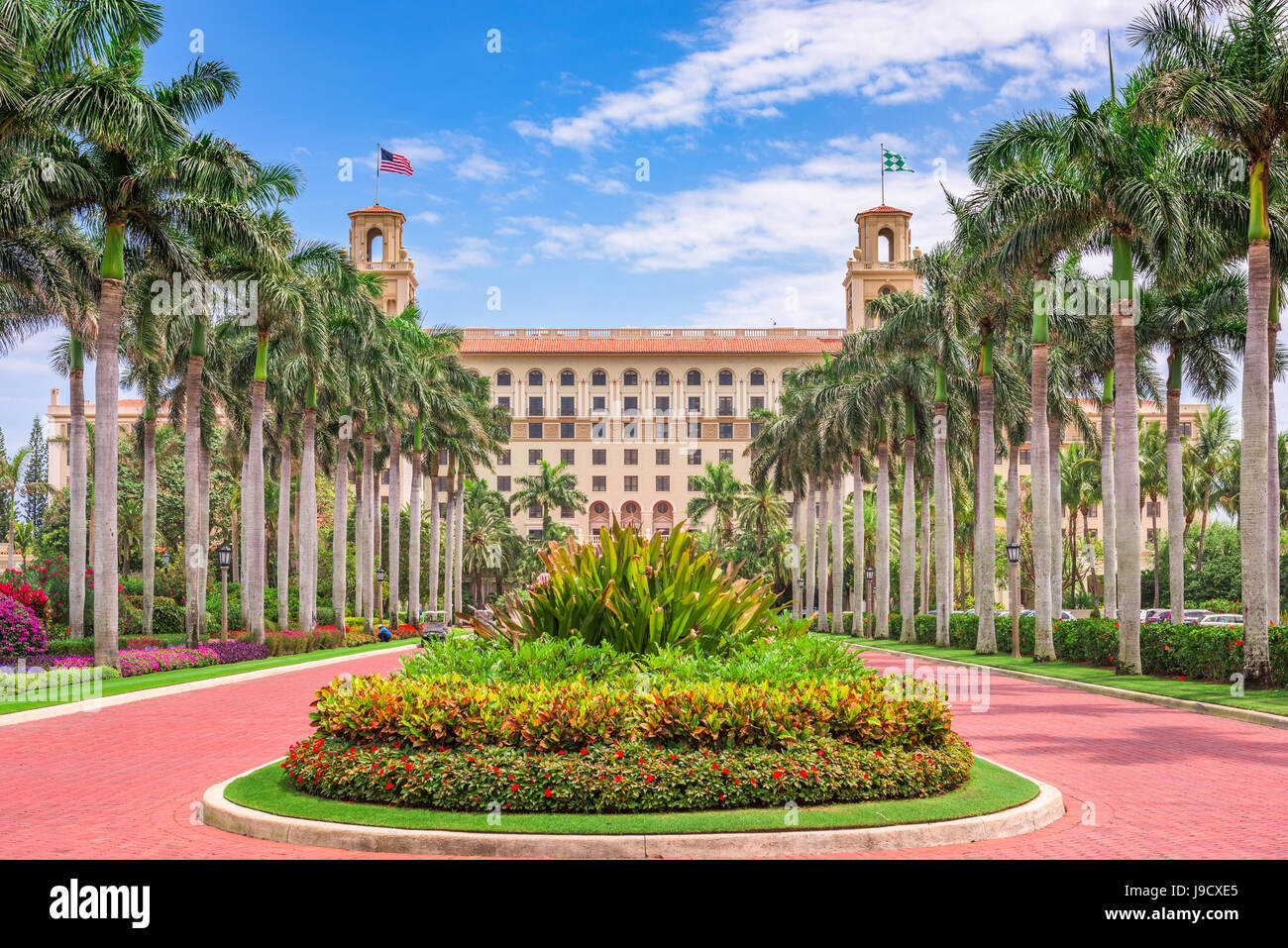 WEST PALM BEACH, FLORIDA - APRIL 4, 2016: The exterior of Breakers Hotel in West Palm Beach. The hotel dates from - Stock Image