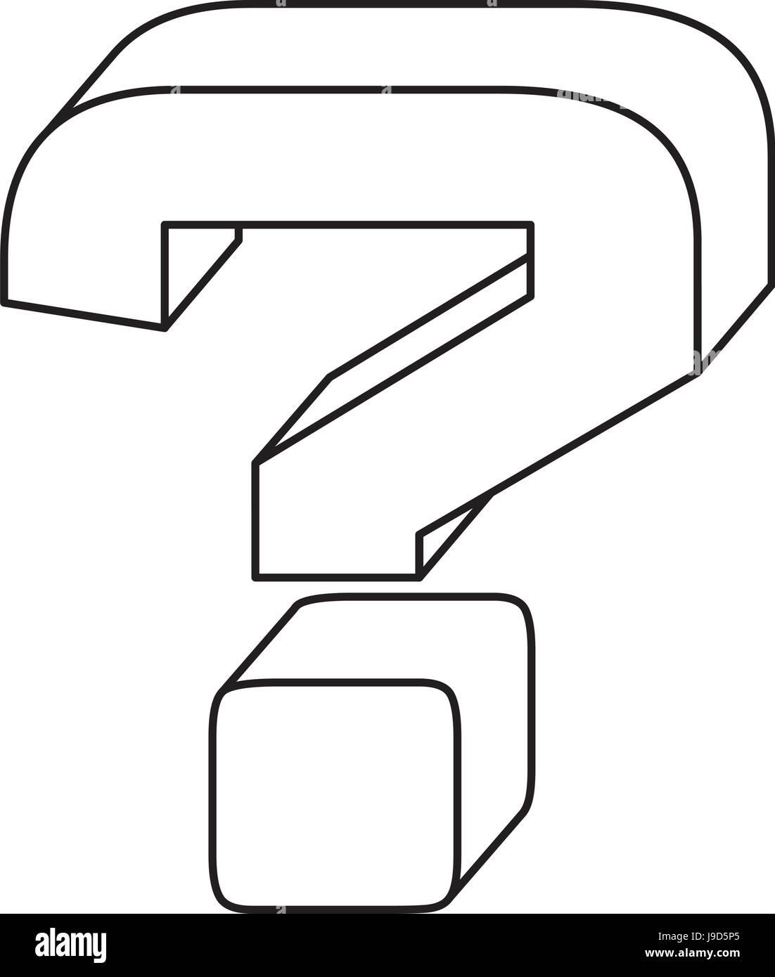 Question mark symbol - Stock Image