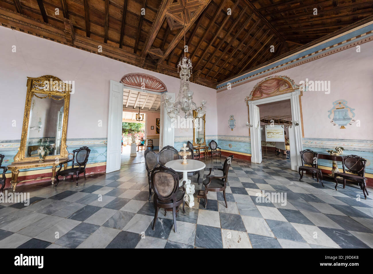 Interior view of the Museo de Arquitectura Colonial in the town of Trinidad UNESCO & Colonial Interior Colonial Interiors Stock Photos \u0026 Colonial ...