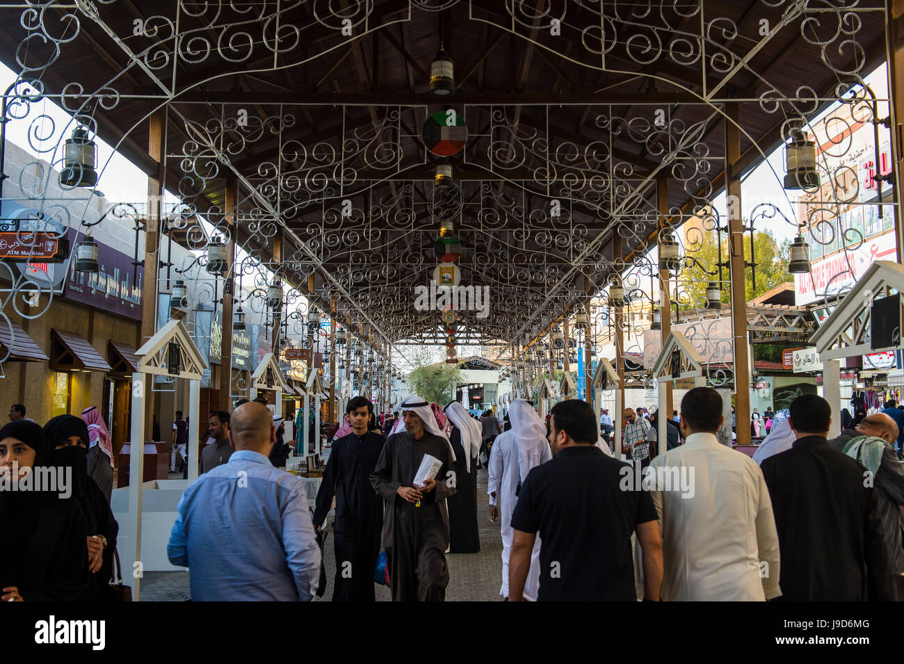 Beautiful bazaar, Souk Al-Mubarakiya, Kuwait City, Kuwait, Middle East - Stock Image