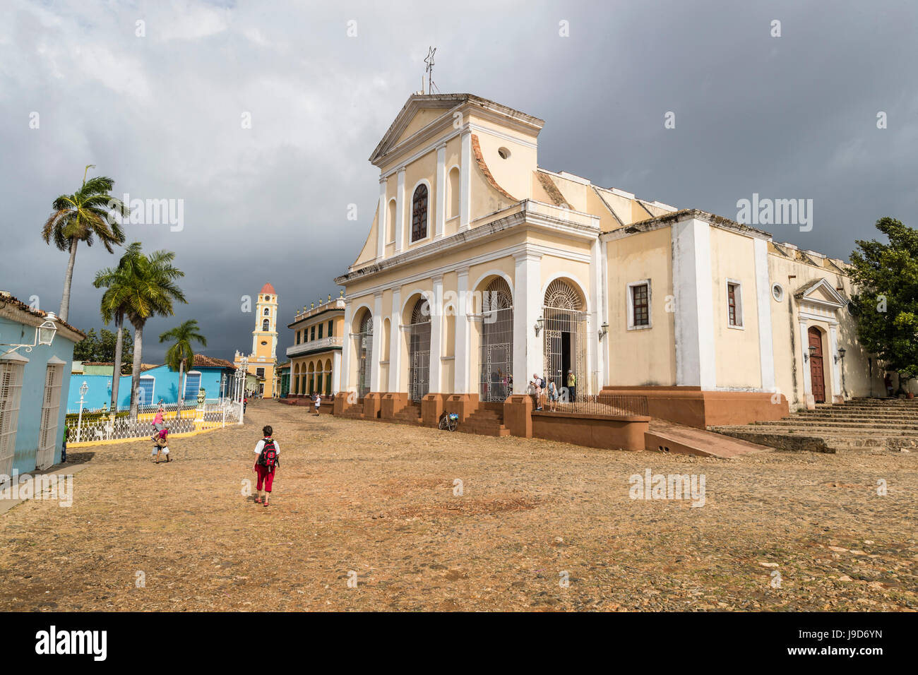 Exterior view of the Iglesia Parroquial de la Santisima, Trinidad, UNESCO World Heritage Site, Cuba, West Indies, - Stock Image
