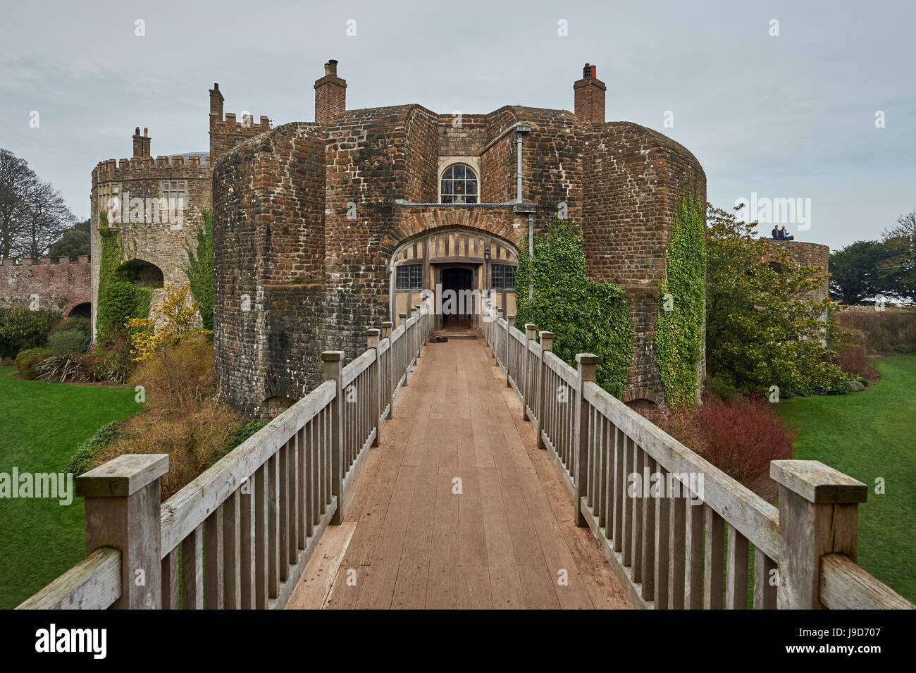 Walmer Castle and Gardens, 16th century artillery fort built for Henry VIII, home to Duke of Wellington, Deal, Kent, - Stock Image
