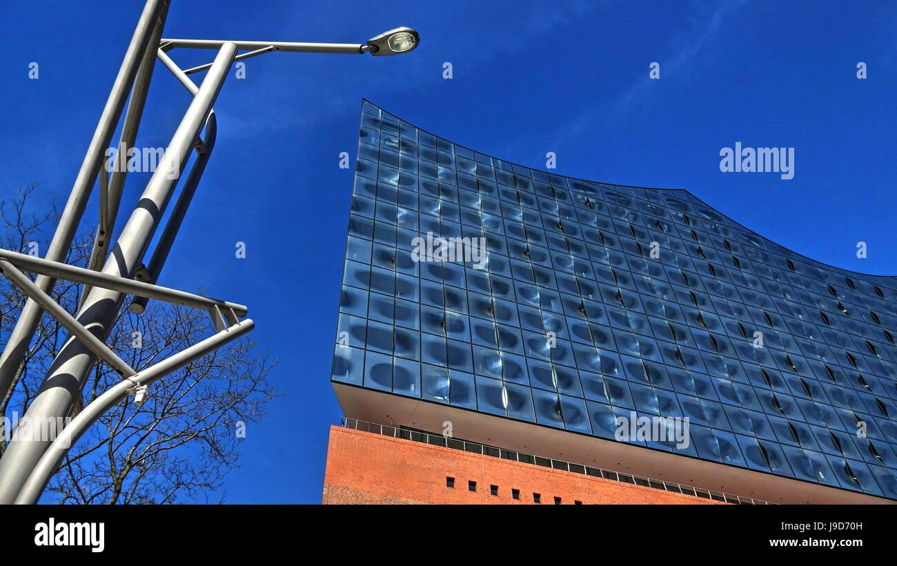 Elbe Philharmonic Hall, Hafen City, Hamburg, Germany, Europe - Stock Image