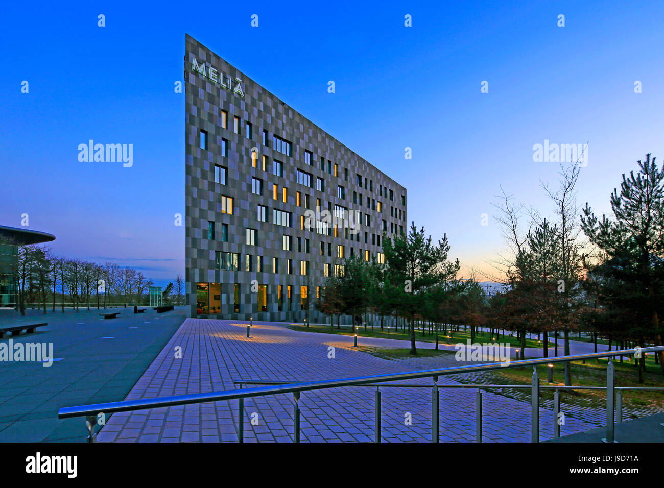 Melia Hotel on Kirchberg in Luxembourg City, Grand Duchy of Luxembourg, Europe - Stock Image
