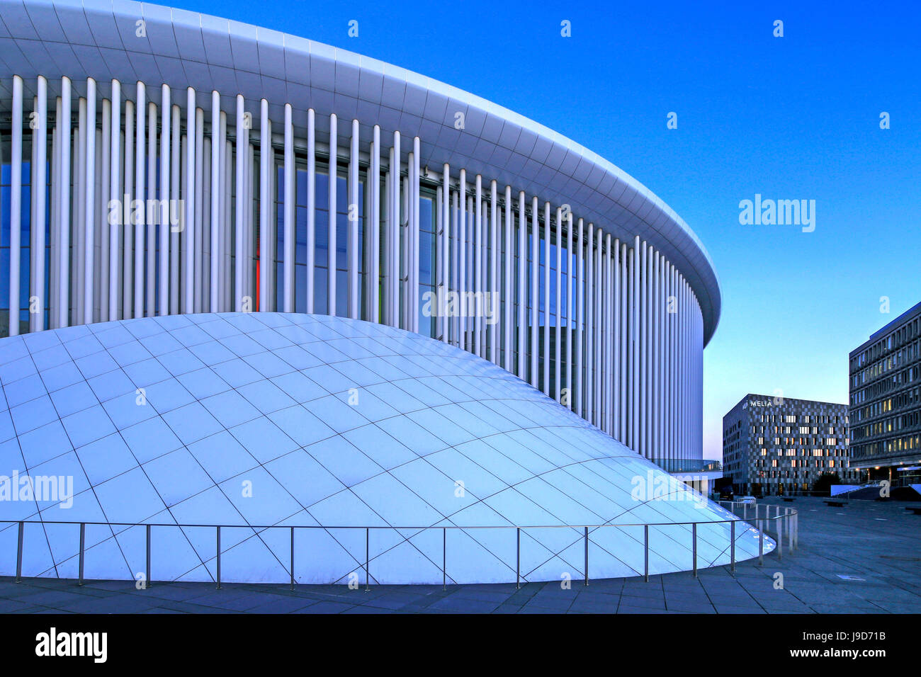 New Philharmonic Hall on Kirchberg in Luxembourg City, Grand Duchy of Luxembourg, Europe - Stock Image