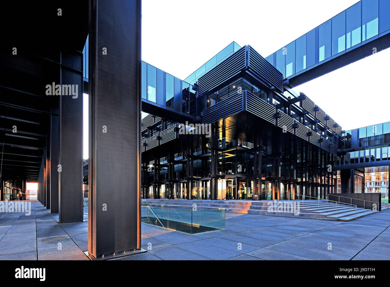 European Court of Justice on Kirchberg in Luxembourg City, Grand Duchy of Luxembourg, Europe - Stock Image