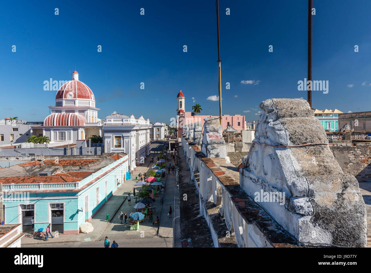 Antiguo Ayuntamiento, home of the provincial government building, UNESCO, Cienfuegos, Cuba, West Indies, Caribbean - Stock Image