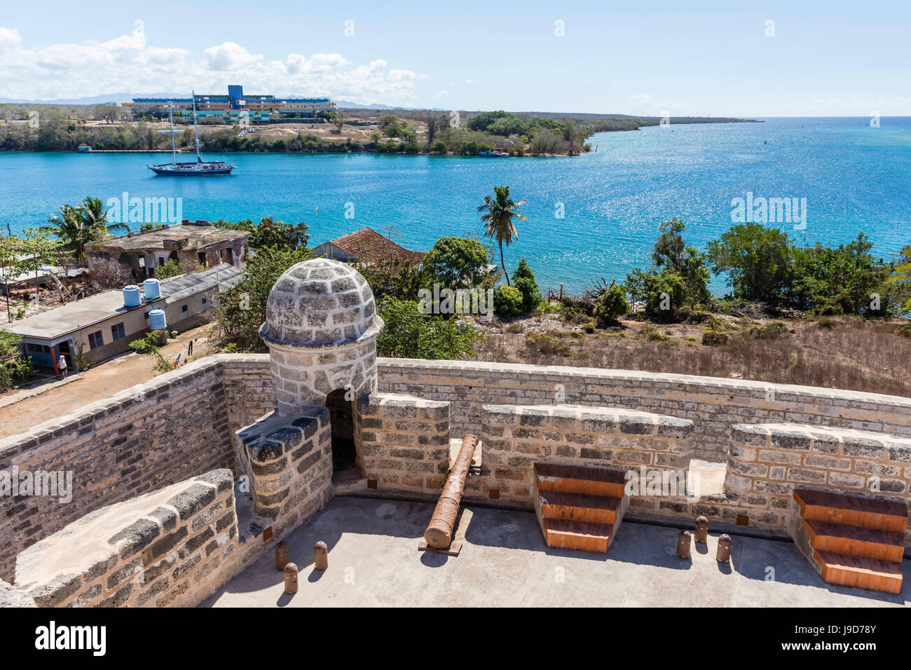 The Castillo de Jagua fort, erected in 1742 by King Philip V of Spain, near Cienfuegos, Cuba, West Indies, Caribbean - Stock Image