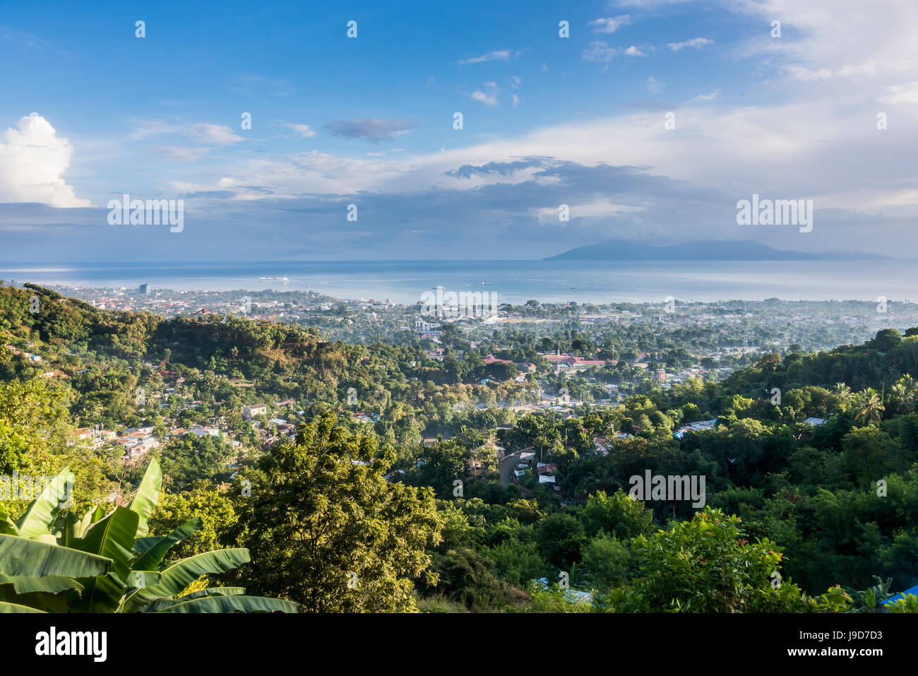 View over Dili, capital of East Timor, Southeast Asia, Asia - Stock Image