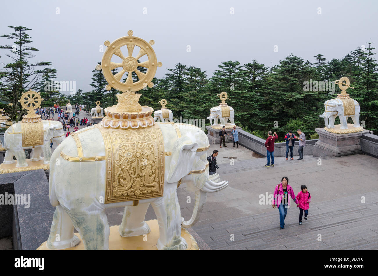 Emei Shan, UNESCO World Heritage Site, Sichuan Province, China, Asia - Stock Image