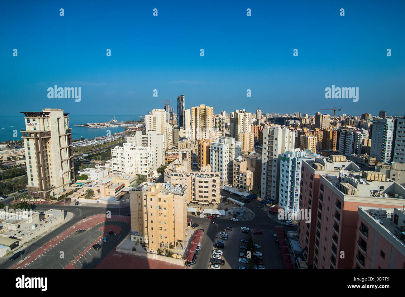 View over Kuwait City, Kuwait, Middle East - Stock Image