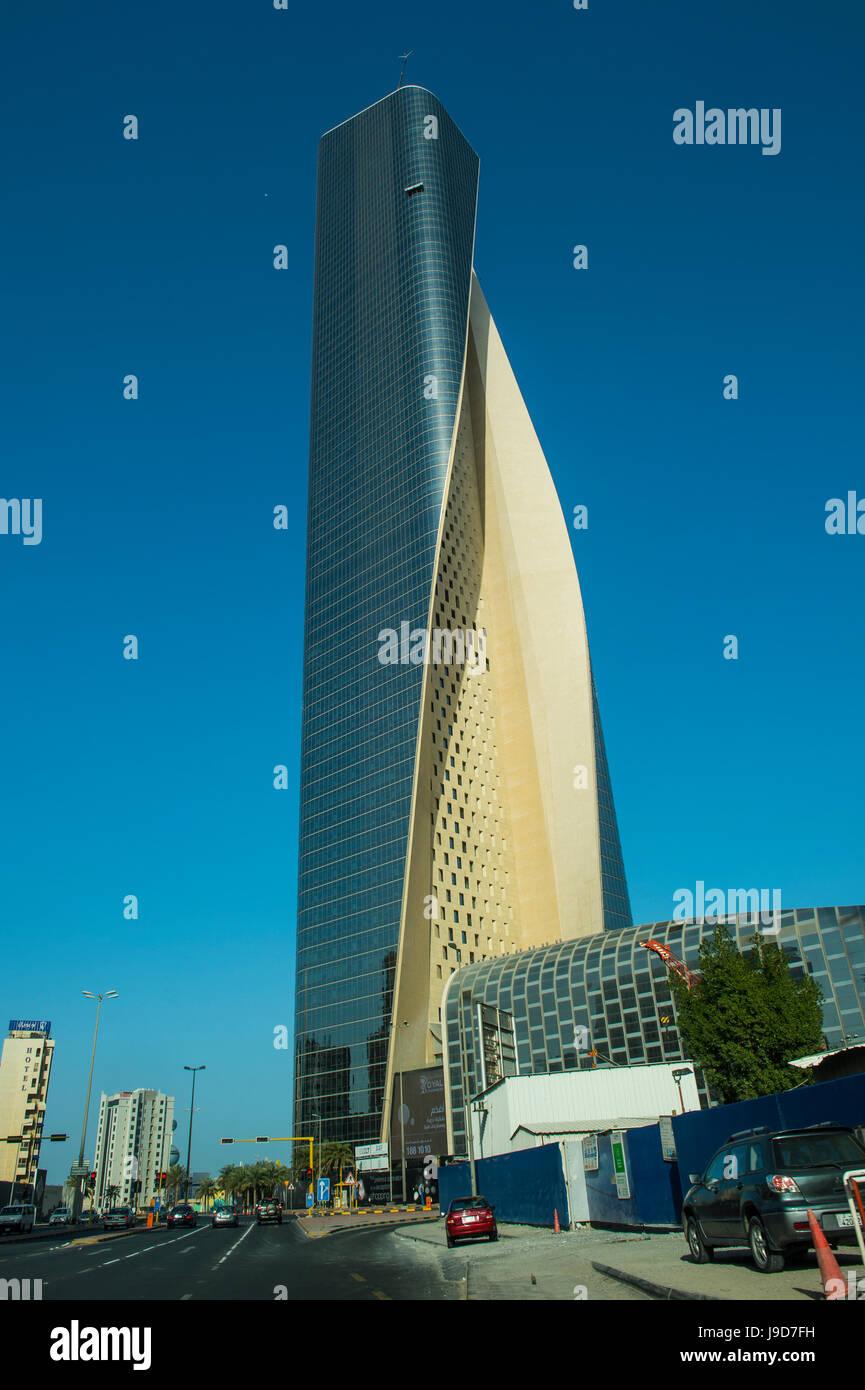 Al Hamra tower in Kuwait City, Kuwait, Middle East - Stock Image