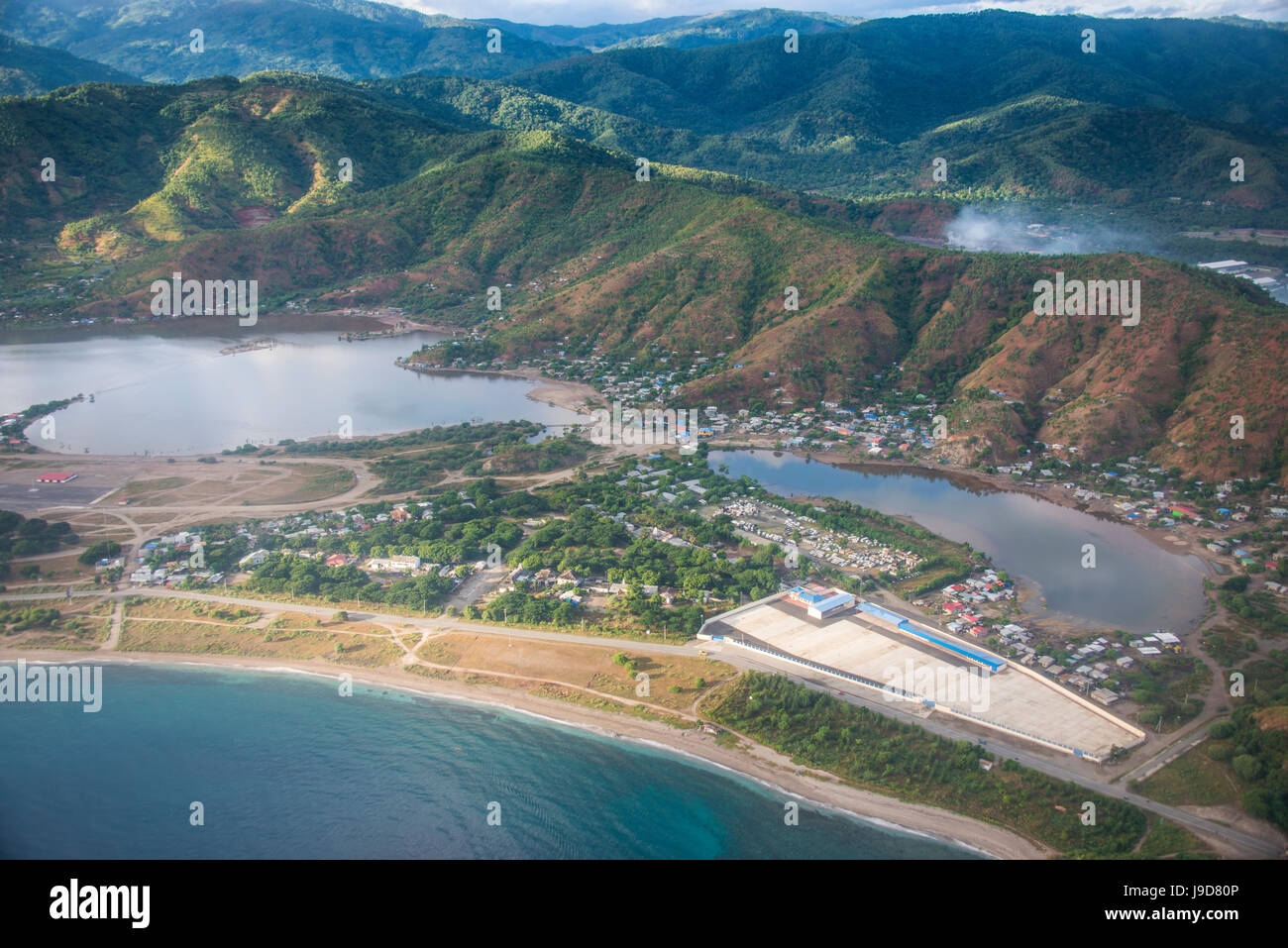 Aerial of Dili, East Timor, Southeast Asia, Asia - Stock Image