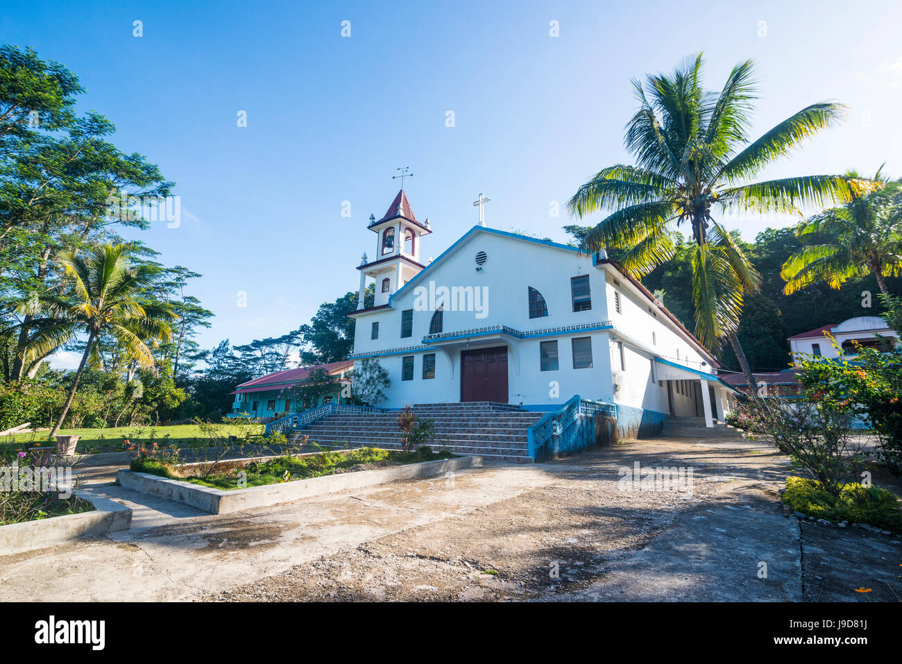 Catholic church, Aileu, East Timor, Southeast Asia, Asia - Stock Image