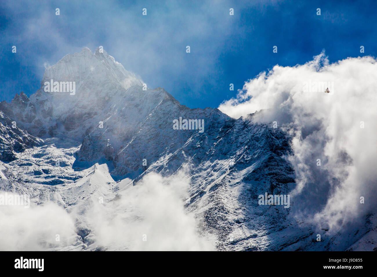 Peak of Mount Everest, Sagarmatha National Park, UNESCO World Heritage Site, Himalayas, Nepal, Asia - Stock Image