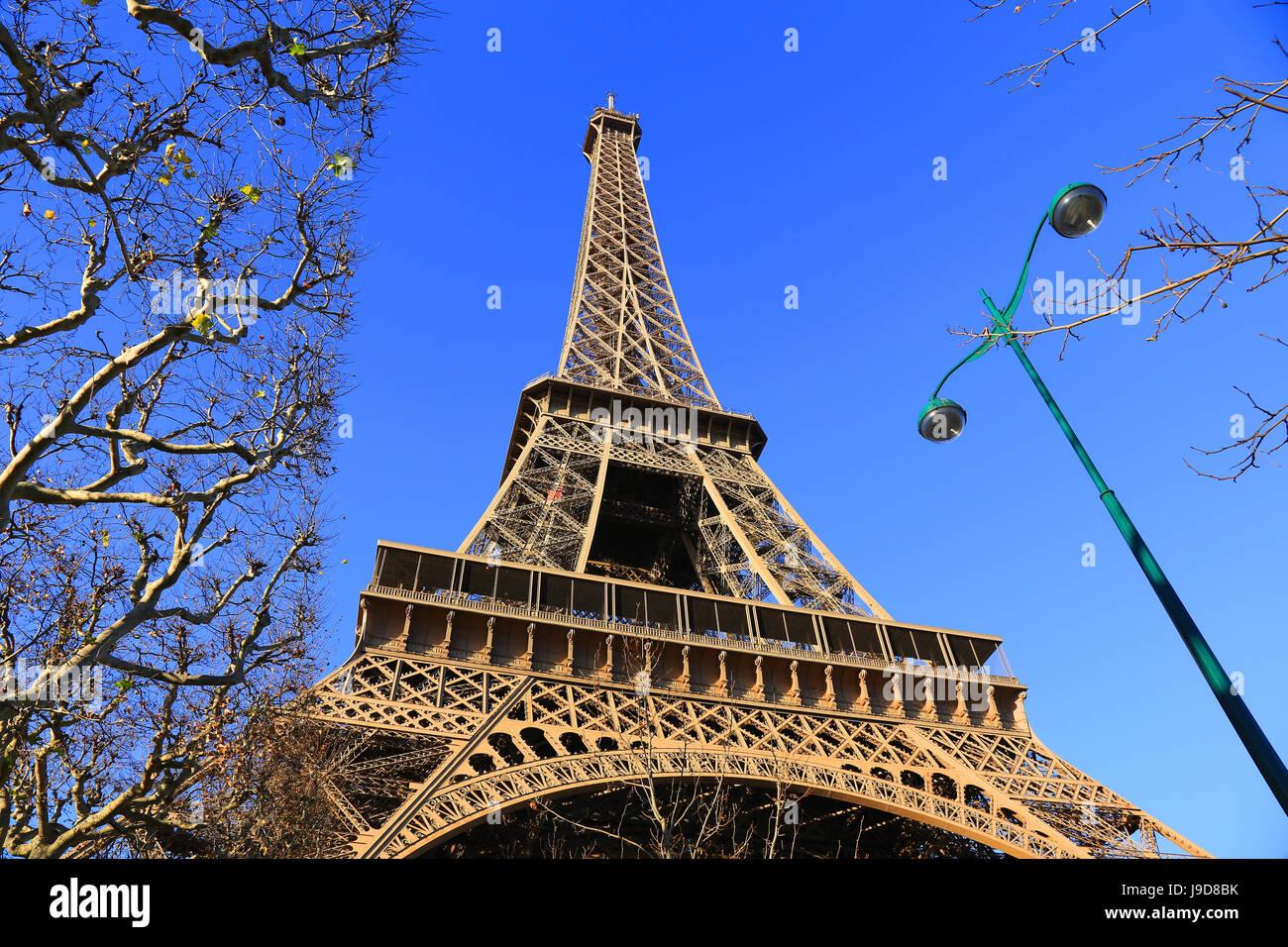 Eiffel Tower, Paris, Ile de France, France, Europe - Stock Image