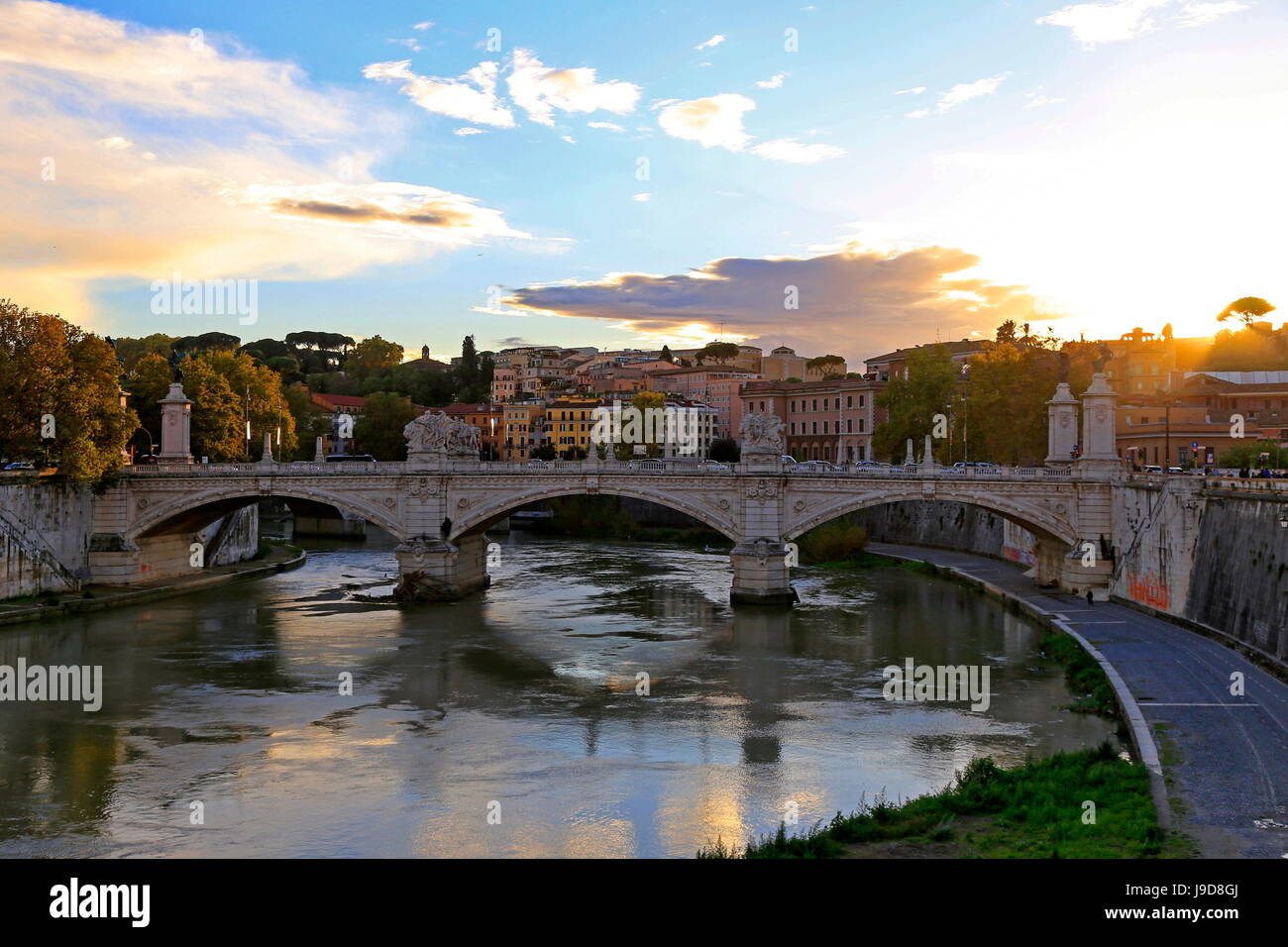 Tiber River, Rome, Lazio, Italy, Europe - Stock Image
