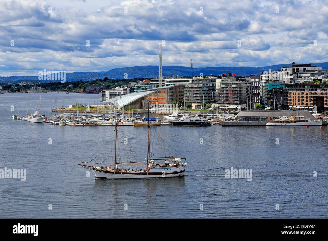 Pipervika Harbour, Oslo, Norway, Scandinavia, Europe - Stock Image