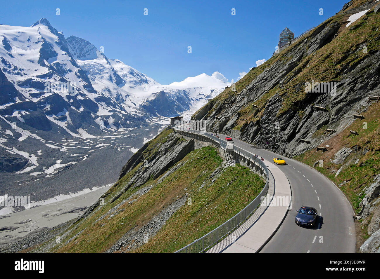 Grossglockner High Alpine Road at Emperor Franz Joseph Height (Kaiser-Franz-Josefs Hohe), Carinthia, Austria - Stock Image