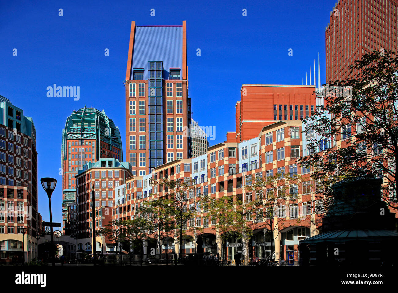 Business District in The Hague, South Holland, Netherlands, Europe Stock Photo
