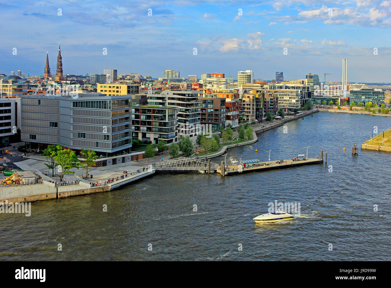 Hafen City, Hamburg, Germany, Europe - Stock Image
