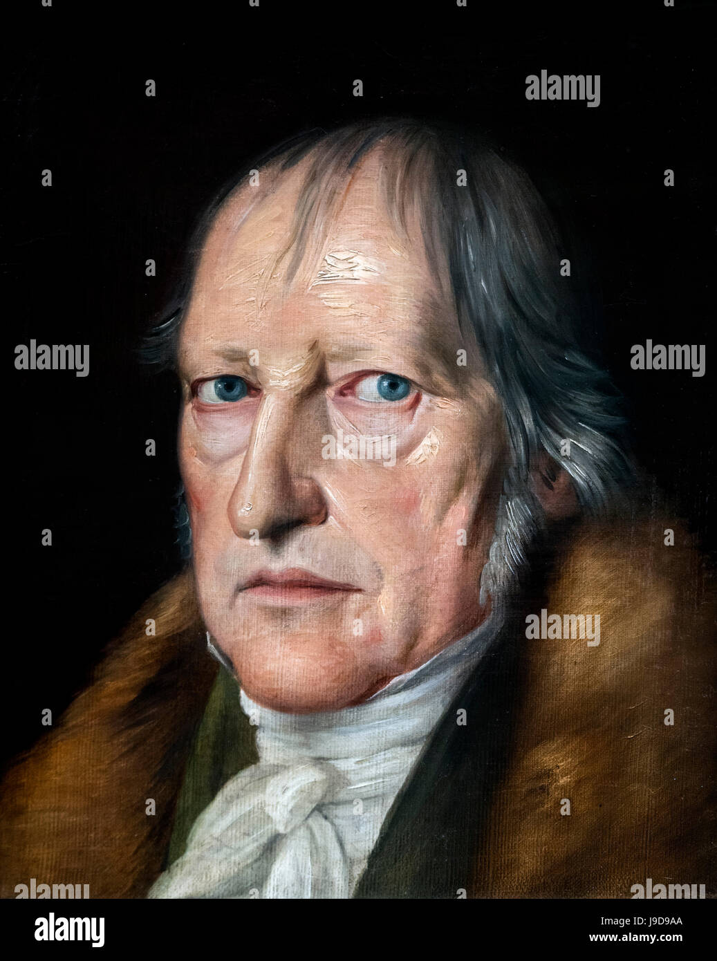 Hegel. Portrait of the German philosopher, Georg Wilhelm Friedrich Hegel (1770-1831) by Jacob Schlessinger, oil - Stock Image