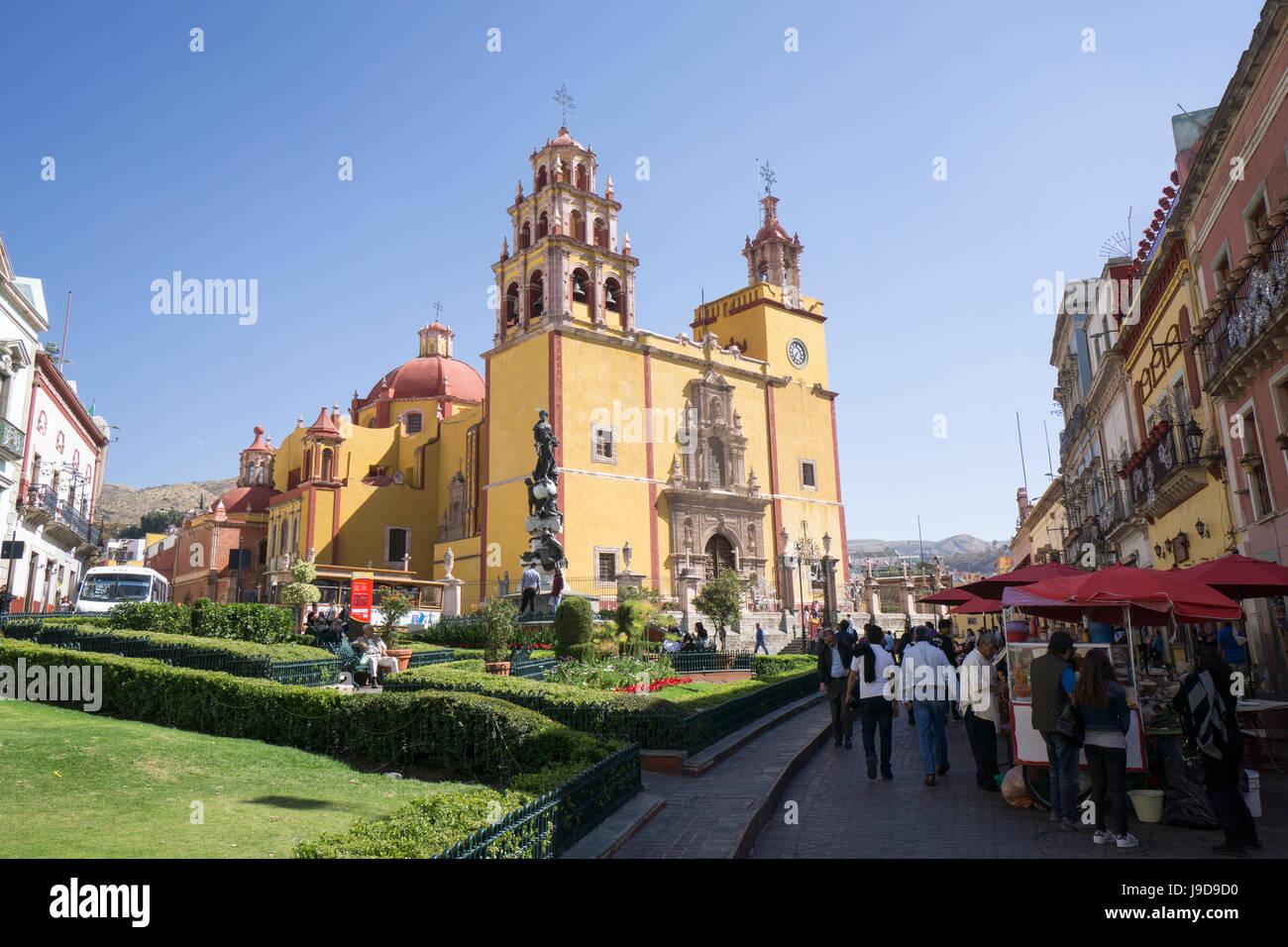 Basilica Colegiata de Nuestra Senora de Guanajuato, Guanajuato, UNESCO World Heritage Site, Mexico, North America Stock Photo